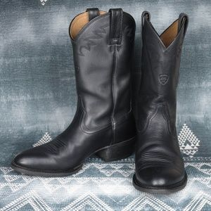 Ariat Sedona Black Leather Cowboy Boots, 10D